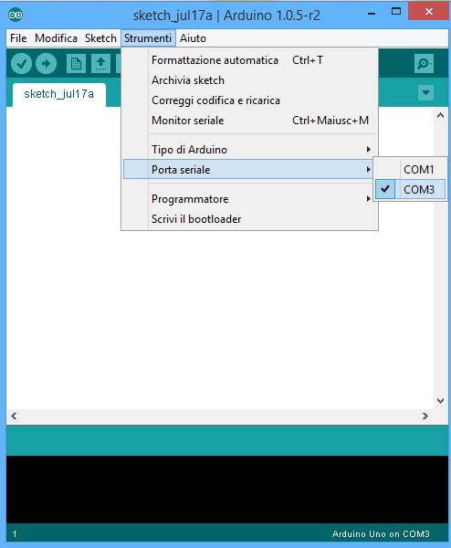 Arduino IDE porta COM