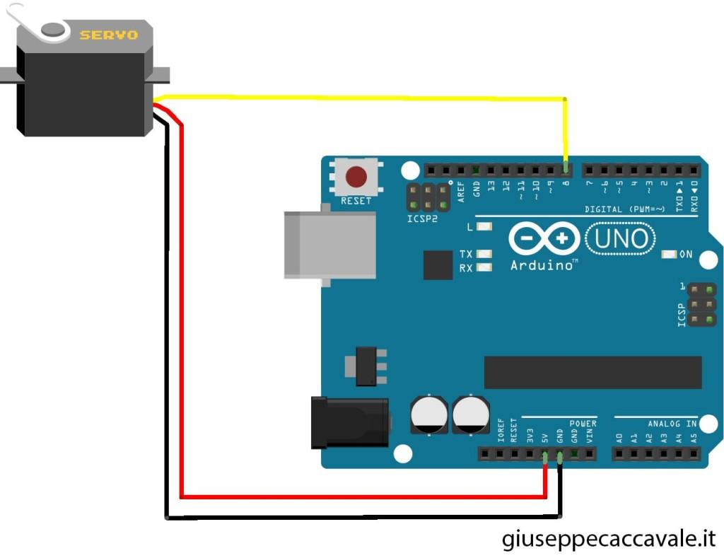 Schemi Elettrici Arduino : Comandare un servomotore con arduino giuseppe caccavale