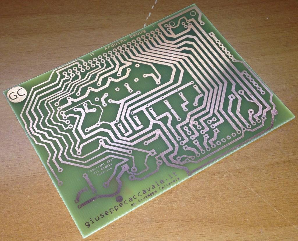 PCB Arduino debug THT